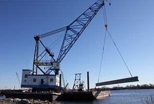 Conventional and Barge Mounted Cranes