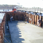 Construction and Installation of boat ramp, pier, and mooring bollards