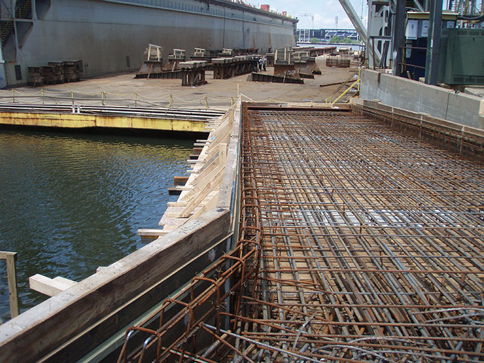 Dry Dock Access Concrete Bridge And Ramp Crofton Industries