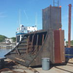 Cofferdam for Hull Plate Removal