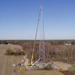 Suffolk Iron tower erection